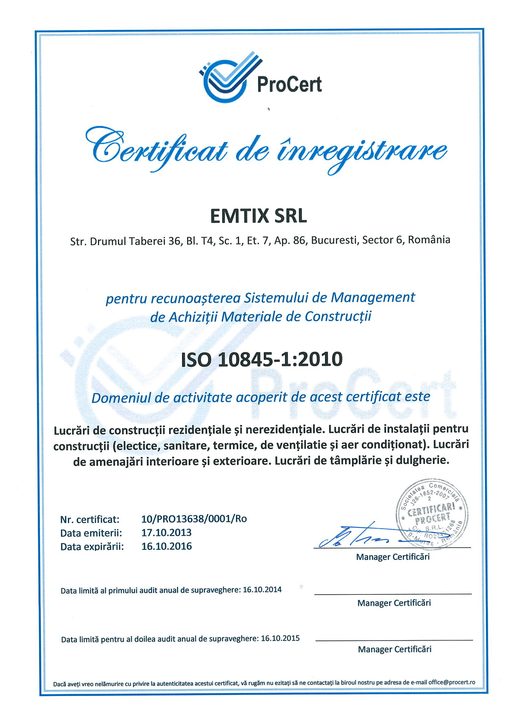 ISO-9001-ISO-14001-ISO-10845---EMTIX-SRL Page 3