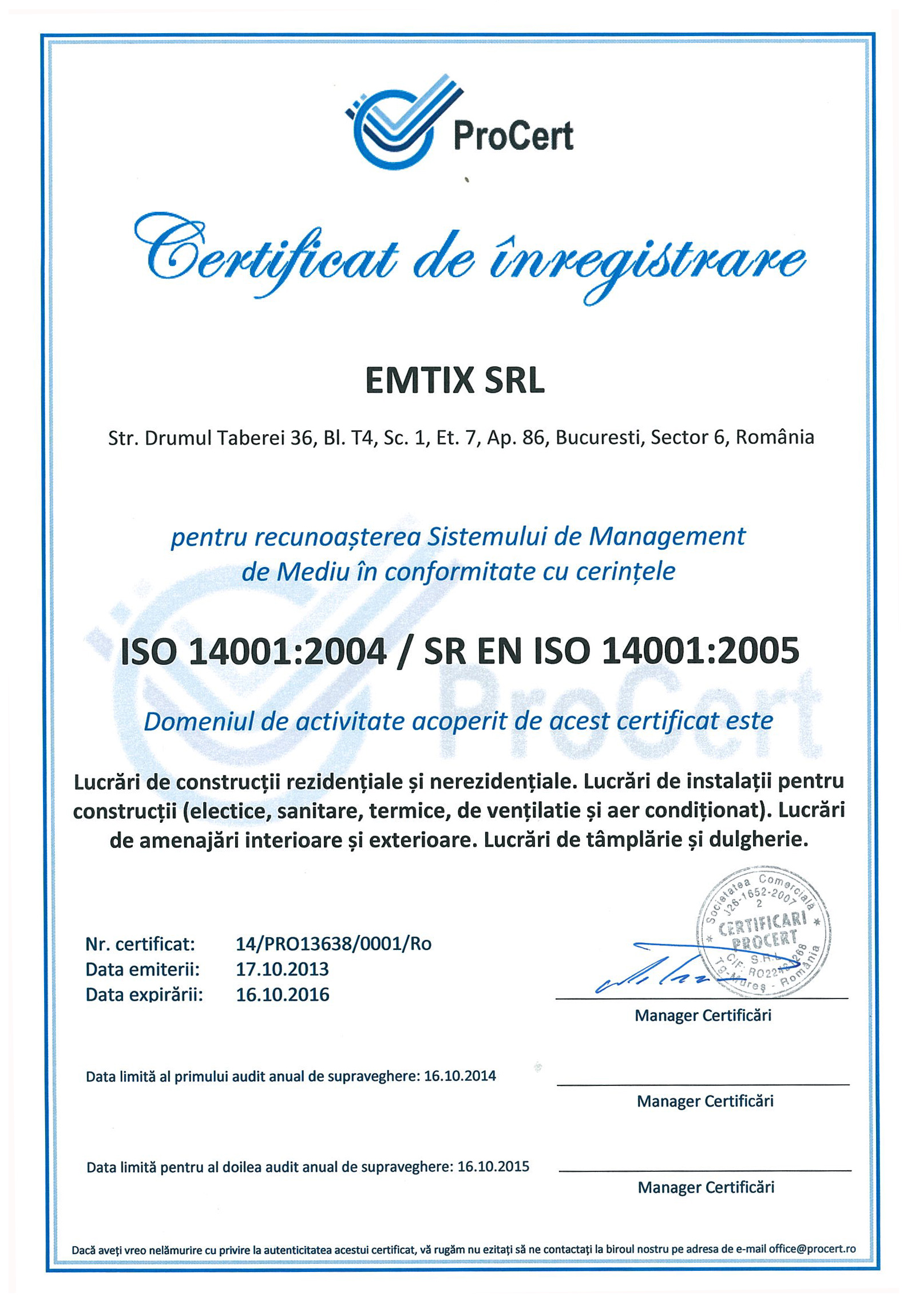 ISO-9001-ISO-14001-ISO-10845---EMTIX-SRL Page 2
